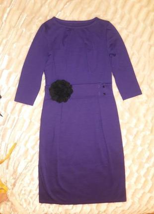 Элегантное платье цветок -лила 46р фиолет