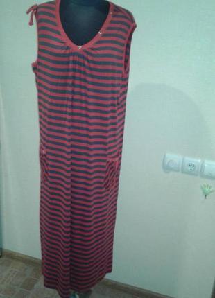 Платье женское без рукав в красно-серую полоску турция romeo and life