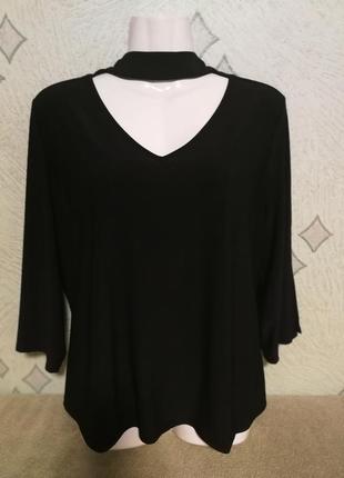 Батал.красивая блуза с чокером для полненьких женщин.