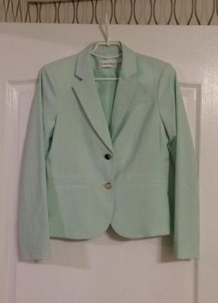 Мятный пиджак calvin klein, новый!