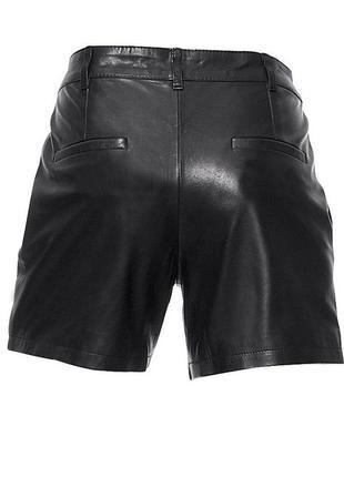 L-atmosphere- актуальные кожаные шорты с высокий посадкой, идеальн.сост.