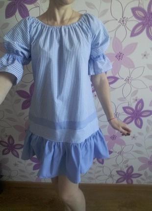 Красивое летнее платье 100%-хлопок