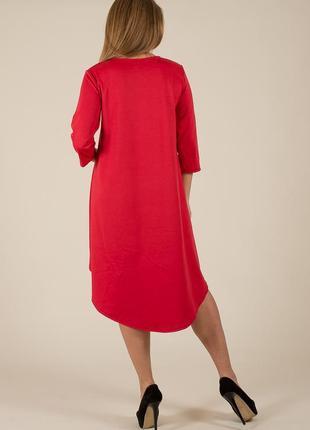 Платье ассиметричное,трапеция/разм.l-xl