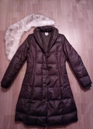 Зимний пуховик/пальто  100% пух
