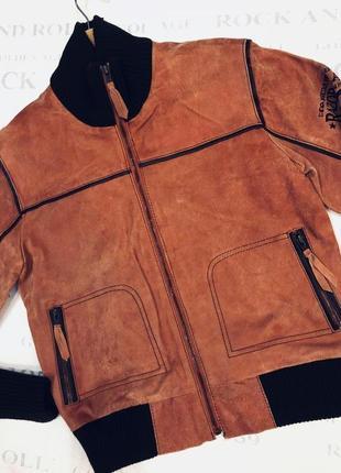 Куртка кожаная брендовая с потертостями