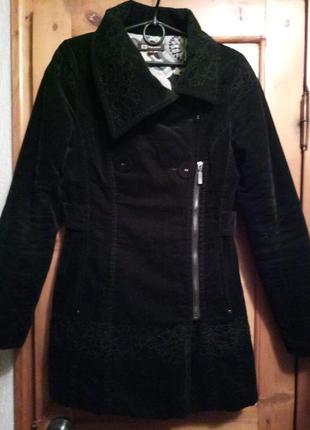 Пальто велюровое s-xs