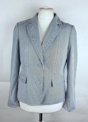 Классический пиджак жакет блейзер в полоску приталенный из хлопка от jasper conran xl