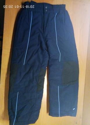 Супер теплые зимние штаны фирмы funboard в хорошем состоянии для мальчика