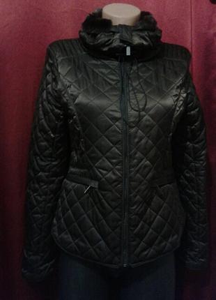 Куртка стеганая на синтепоне меховый воротник демисезон ci sono (только продажа)