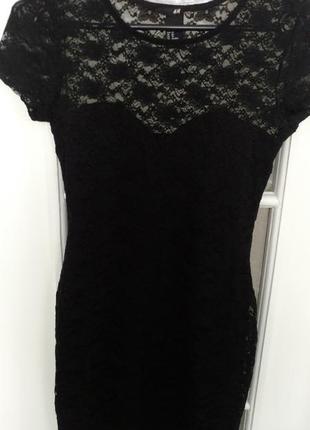Супер-обтягивающее гипюровое платье