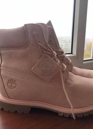 Новые розовые ботинки timberland