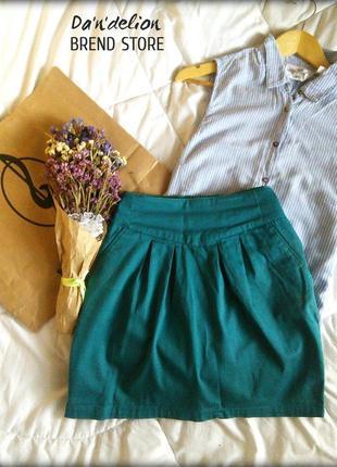 Юбка-тюльпан ізумрудного кольору terranova