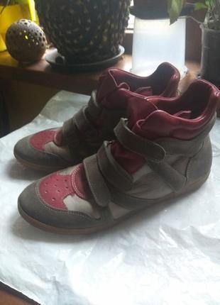 Зимние ботинки- кроссовки на цигейке momino