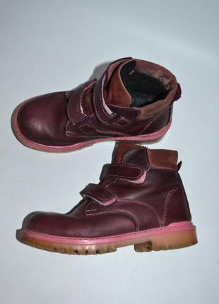 Ботинки утепленные ортопедические натуральная кожа.
