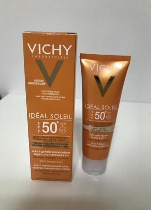 Солнцезащитный крем spf 50  vichy против пигментных пятен