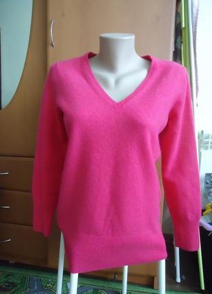Яркий кашемировый свитер 100% кашемир