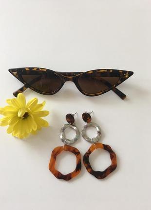 Трендовые очки , леопардовый принт