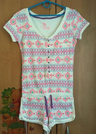 Хлопковая яркая пижама кишуруми слип комбенизон