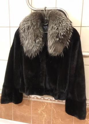 Норковый полушубок мех натуральней шуба куртка пуховик