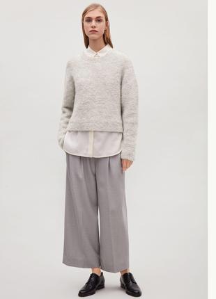 Кудрявый мягкий шерстяной свитер