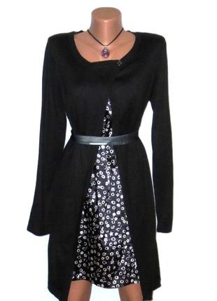 Стильное платье- кардиган 2-в-1 от marks & spencer размер: 46-м