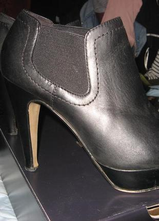 Ботинки туфли ботильоны на каблуке платформа кожа 5th avenue размер 38 см  постельке 24.5 fbfe165cc7b72