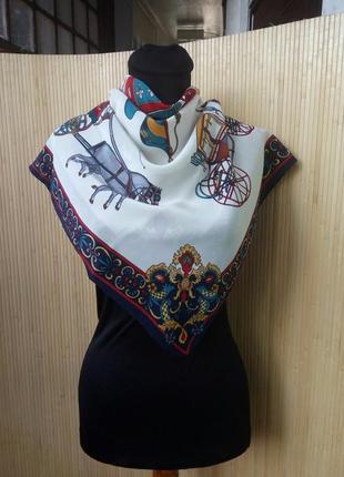 Винтажный шелковый платок paris musées италия
