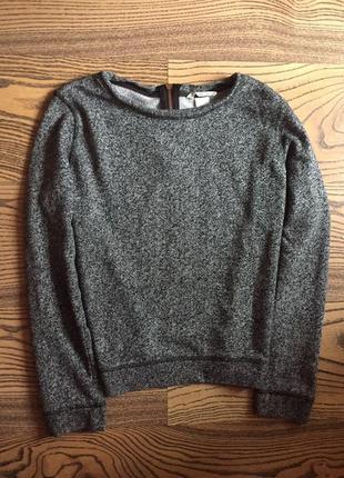 Новый свитер цвета меланж укороченый 🖤
