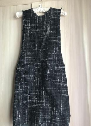 Zara тёплое платье модное миди