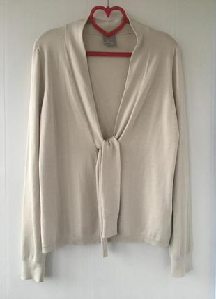 Изысканный трикотажный шелковый кардиган блузка, натуральный шёлк, poetry
