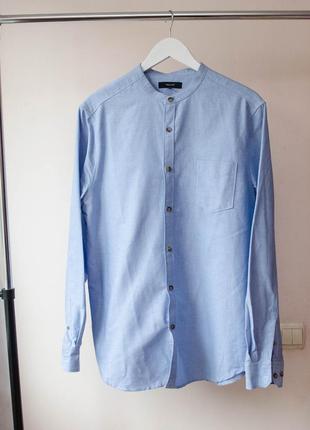Качественная классическая рубашка без воротника villain