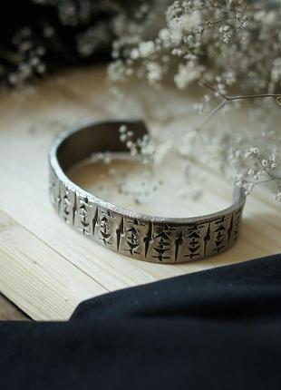 Кованые титановые браслеты. ручная работа