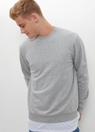 Базовый мужской свитшот тёплый, худи с начесом, толстовка