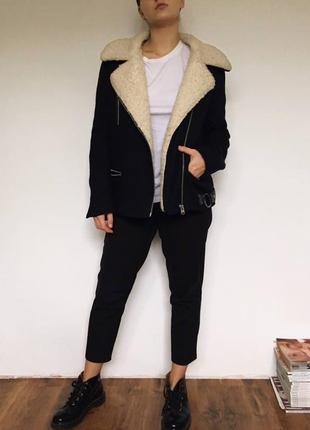 Зимняя куртка-дубленка topshop