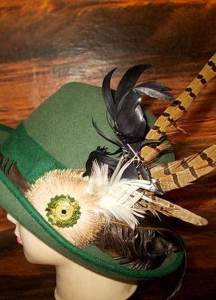 Шляпа для охоты parforce+брошь и перья - натуральный фетр германия