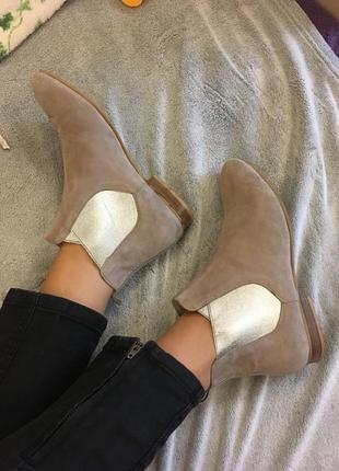 Кожаные ботинки челси , фирменные kiomi