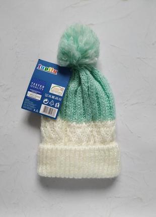 Вязаная шапка шапочка lupilu 2-5 лет