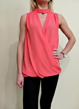 Красивая блуза на запах с красивой спинкой