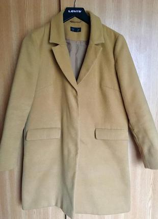 Пальто topshop цвета camel
