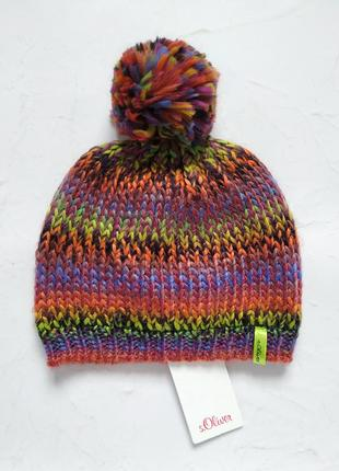 Вязаная шапка шапочка s. oliver 4/6 года 51-53