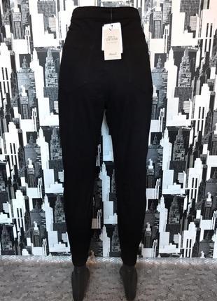 #449 новые черные джинсы скинни высокой посадки denim co