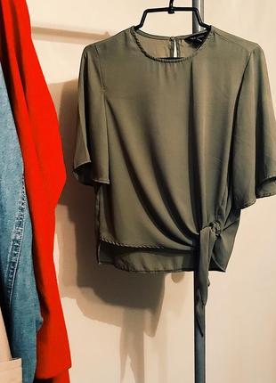 Блуза на завязке от new look