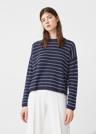 Тёплый свитер с завязками mango