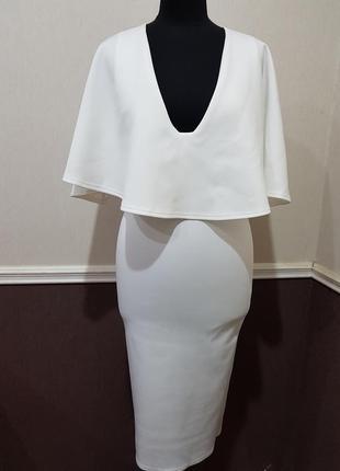 Белое нарядное платье миди asos