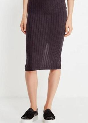 Стильная юбка-миди в рубчик only