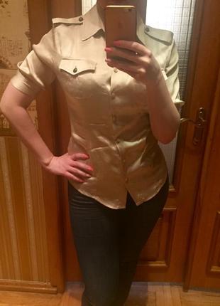 Шелковая блуза just cavalli