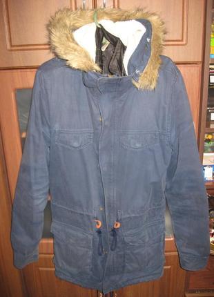 Мужская фирменная куртка-парка adidas neo