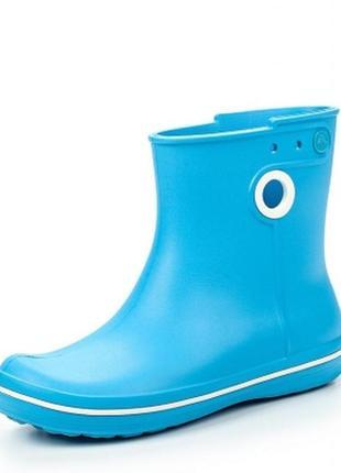 Сапоги резиновые с кружочком crocs women's jaunt shorty boot / дождевики
