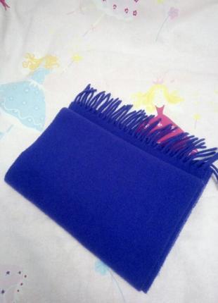 Фиолетовый шерстяной шарф