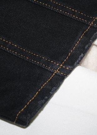 Темно синяя прошитая джинсовая юбочка. джинс не тянется missguided4 фото